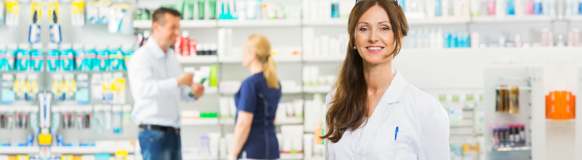 pharmacist woman smiling